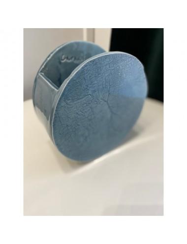 Vase caractère bleu et cobalt