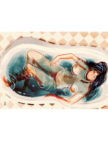 La jeune femme dans son bain