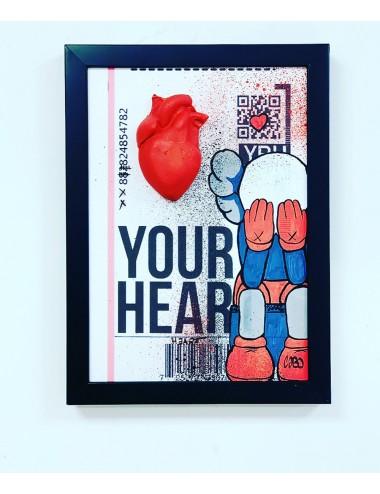 Amour heart Kaws