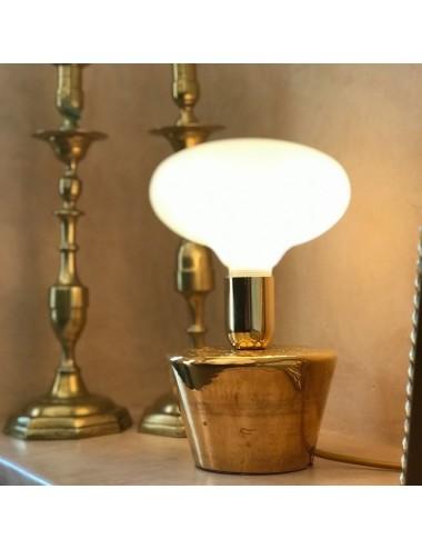 "Lampe ""TARBOUCH"" Or jaune"