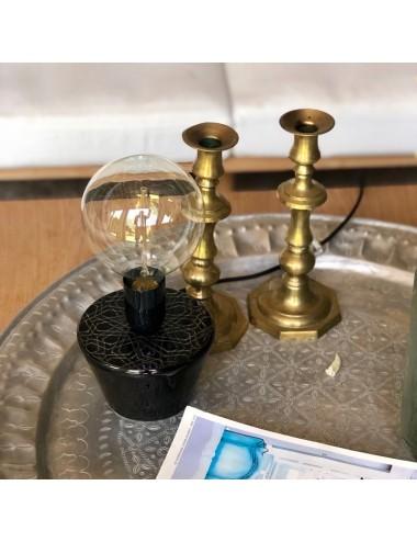 Lampe TARBOUCH céramique noire
