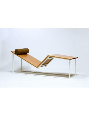 Chaise longue en bois de...